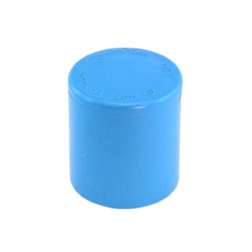 ท่อน้ำไทย ฝาครอบ  หนา ขนาด 1/2 นิ้ว สีฟ้า