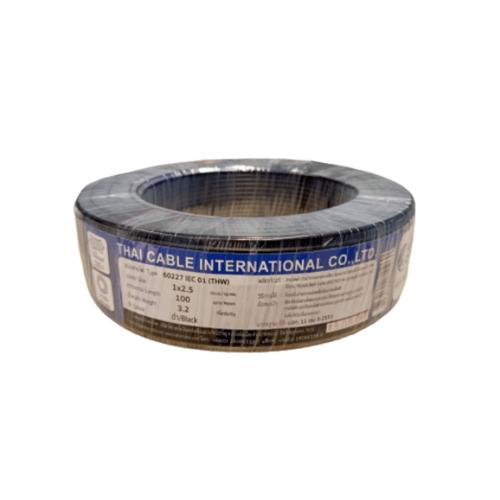 Global Cable สายไฟ THW  IEC 01 1x2.5 100M  สีดำ