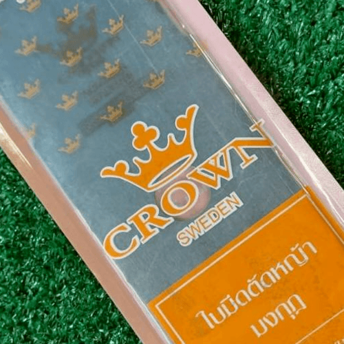 CROWN ใบมีดตัดหญ้ามงกุฎ พรีเมียม 12 นิ้ว x 2.0 มม. สีขาว