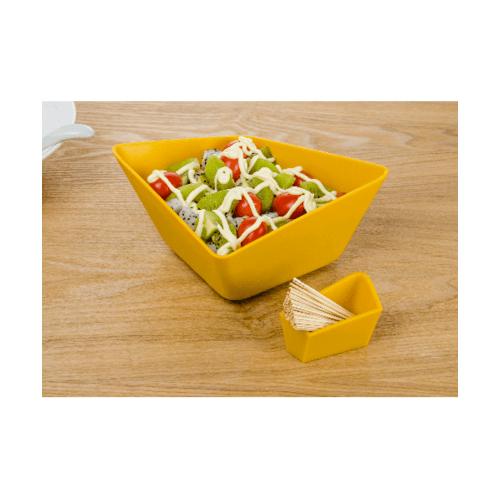 UCHI จานขนม A0233-YE สีเหลือง