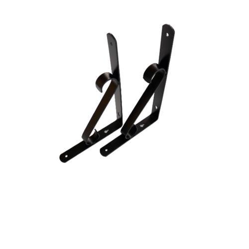 TORSTEN ฉากรับชั้นเหล็ก   25*2.5*17cm  PQS-TJ2025 สีดำ