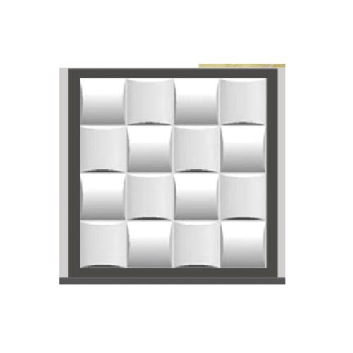 ECO PLUS พลาสวูดแกะสลัก ผนังตกแต่ง 3 มิติ  50x50cm.  OUT021