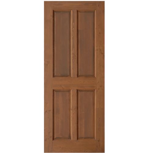 D2D ประตูไม้ดักลาสเฟอร์บานทึบ 4 ฟัก ขนาด 80 x 200cm.  Eco Pine  Ezero12 สีเบรินแอช