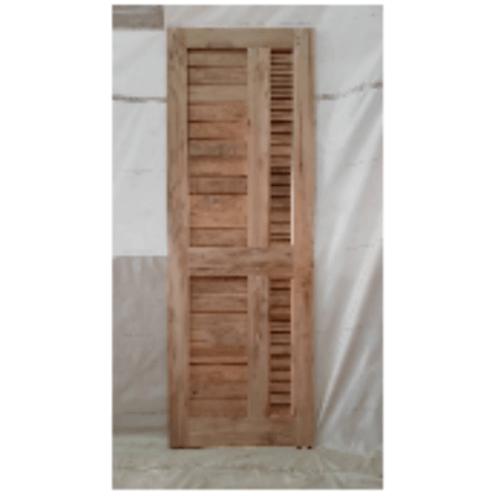 SJK  ประตูไม้สัก ทำร่องพร้อมเกล็ดระบายอากาศ 70x200ซม. SJK007