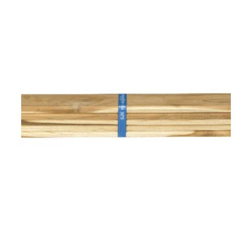 SJK ฝ้าระแนงไม้สัก ขนาด  1/2นิ้วx4นิ้วx250ซม. (1มัด/5แผ่น)