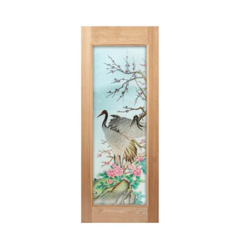 Masterdoors ประตูกระจกสยาแดง  ขนาด 80x200 cm. Master-018 ธรรมชาติ