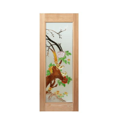 MAZTERDOOR ประตูไม้สยาแดง  ขนาด 80x200 cm. ART-02