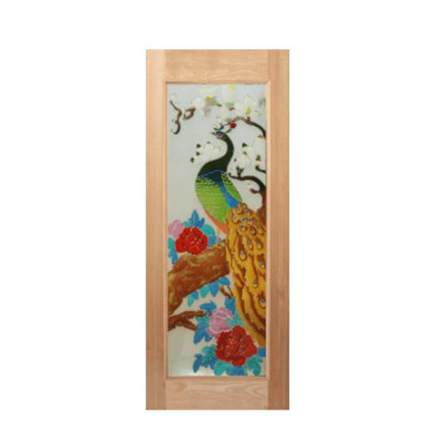 Masterdoors ประตูไม้สยาแดง ขนาด 80x200 cm. ART-03