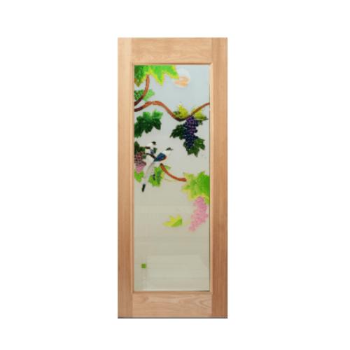 Masterdoors ประตูไม้สยาแดง ขนาด  80x200 cm. ART-05