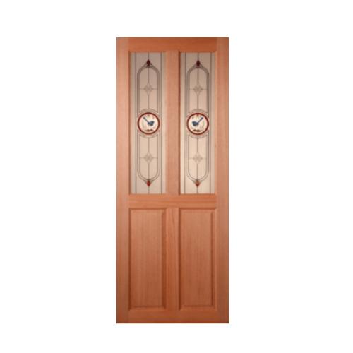 MAZTERDOOR ประตูกระจกสยาแดง ขนาด  80x200 cm.  SS-02