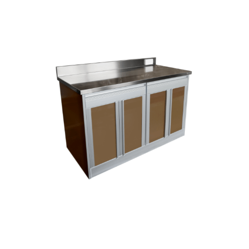 SANKI ตู้ครัวเปิด 4 บาน  KC2-AC30  สีน้ำตาล