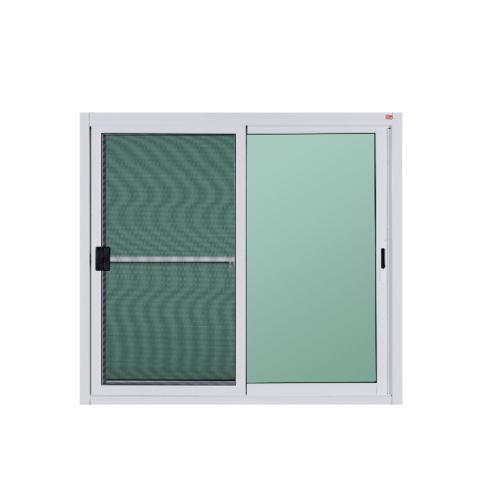 A-Plus หน้าต่างบานเลื่อนสลับ ขนาด 1.20x1.10m.  A-WS/001+มุ้ง สีขาว