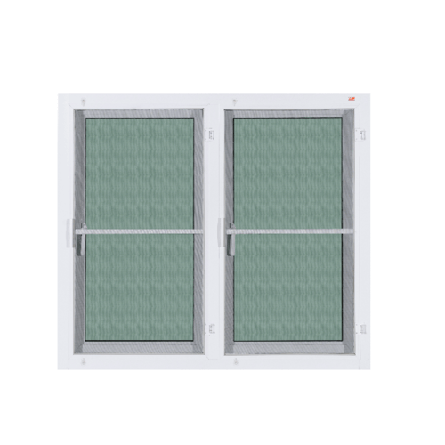 A-Plus หน้าต่างบานเปิดคู่ ขนาด 1.20x1.10m. ขาว+มุ้ง A-WO/014