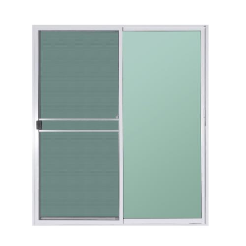 A-Plus ประตูบานเลื่อนสลับ (พร้อมมุ้ง) ขนาด 200x205 cm. A-DS/009 ขาว