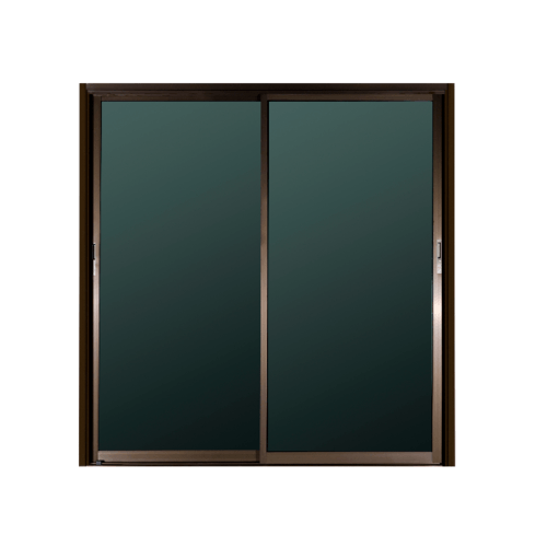 A-Plus ประตูอลูมิเนียมบานเลื่อน ขนาด 200x204cm.  ไม่มีมุ้ง  SS Like-011 สีชา