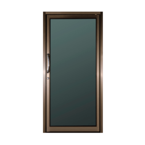 A-Plus ประตูอลูมิเนียมบานสวิงเดี่ยว ขนาด100x204cm. สีชา ไม่มีมุ้ง  Like-012