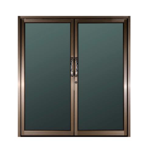 A-Plus ประตูอลูมิเนียมบานสวิงคู่ขนาด 190x204cm. สีชา ไม่มีมุ้ง   Like-017