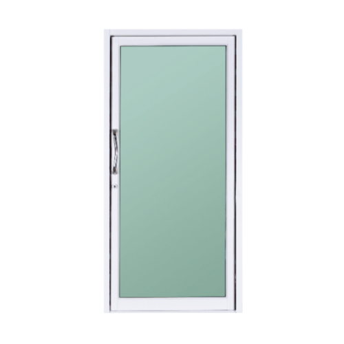 A-Plus ประตูอลูมิเนียมบานสวิงเดี่ยว ขนาด 100x204cm.  ไม่มีมุ้ง  Like-024 สีขาว