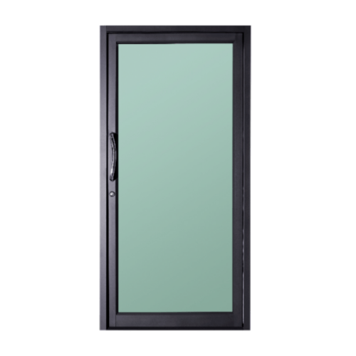 A-Plus ประตูสวิงเดี่ยวเปิดกลาง ขนาด 100x205 cm. SR-016 เทา