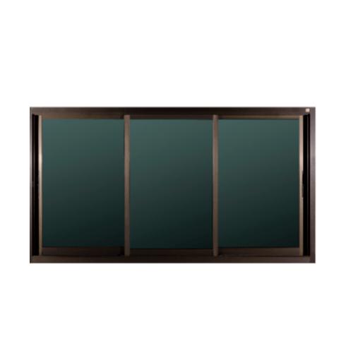 A-Plus หน้าต่างอลูมิเนียมบานเลื่อน SFS ขนาด 200 x 108 cm  Like-004 สีชา ไม่มีมุ้ง