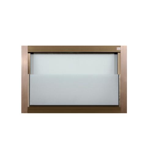 A-Plus หน้าต่างอลูมิเนียมเกล็ดซ้อน ขนาด 70x45cm. สีชา ไม่มีมุ้ง Like-007