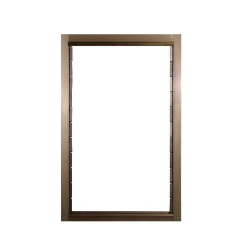 A-Plus หน้าต่างอลูมิเนียมบานเกล็ด ขนาด 70x110cm. สีชา ไม่มีมุ้ง Like-010