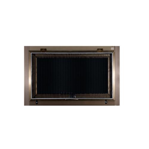 A-Plus หน้าต่างอลูมิเนียมบานกระทุ้ง ขนาด 80x50cm.  Like-014 สีชา พร้อมมุ้ง