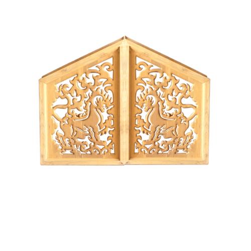 Global house หน้าจั่วฉลุลายสิงห์ 40x60 cm. -