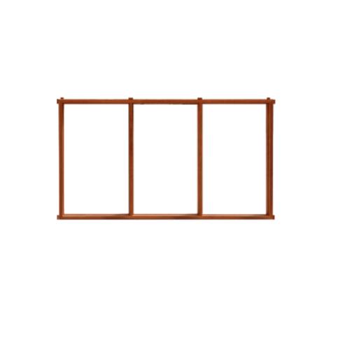 MAZTERDOOR วงกบบานหน้าต่างไม้สยาแดง  ขนาด180X150 cm.