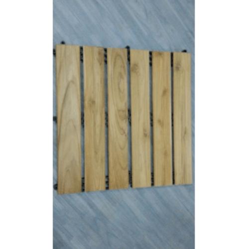 - แผ่นไม้สักปูพื้นสำเร็จรูป ขนาด 50x50cm. SJK017