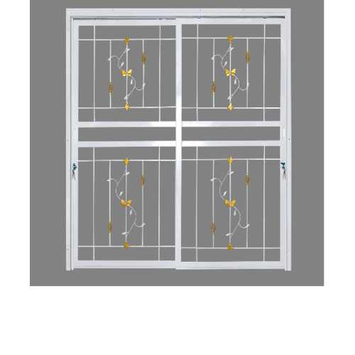 A-Plus ประตูเหล็กดัดลายตระกร้อ ขนาด1.60x2.05 m. (ติดใน) D1002