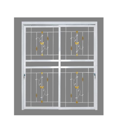 A-Plus ประตูเหล็กดัดลายตะกร้อ ขนาด  1.80 x 2.05 m. ติดใน D1004