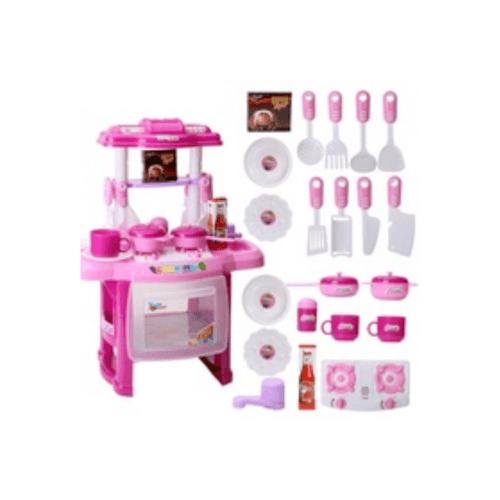 Sanook&Toys ชุดของเล่นทำครัวเด็ก 284382 สีชมพู