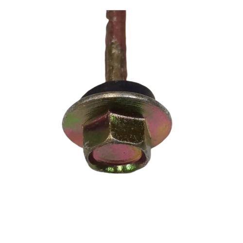 FIX-XY สกรูยึดกระเบื้องลอนคู่ ปลายแหลม#10ยาว88.0 มม.(8pcs/bag)  HHA-02-YE-G