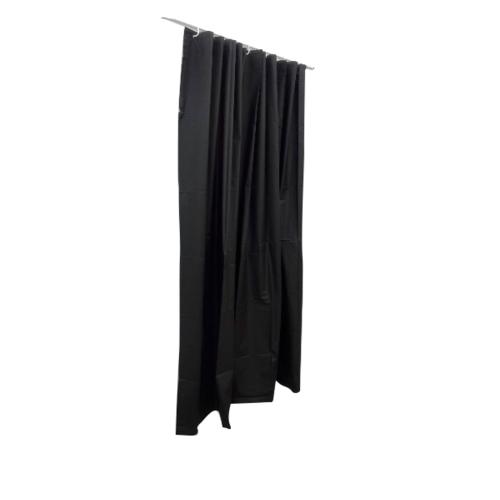 PRIMO ผ้าม่านห้องน้ำ PEVA ขนาด 180x180ซม. DF011 สีดำ