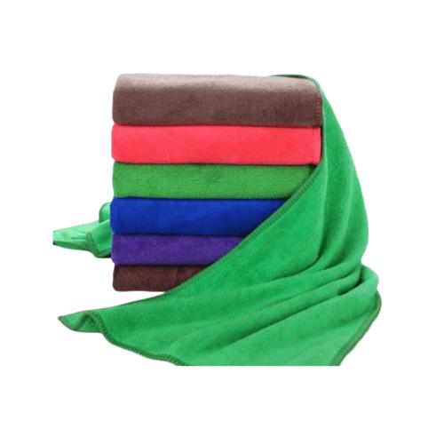 COZY ผ้าขนหนูไมโครไฟเบอร์ 30x30 ซม. BQ014-OLI  สีเขียว