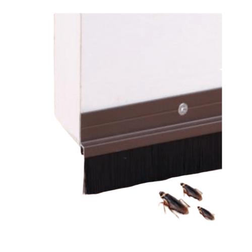 BIGROW เส้นกันแมลงอะลูมิเนียม แถบขนแปรง 100ซม.  KZT011-BN สีน้ำตาล