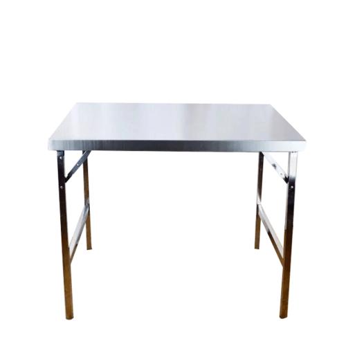 Sane โต๊ะพับอเนกประสงค์สเตนเลสขนาด 75x60x120 cm. PQS-A002 สีโครเมี่ยม