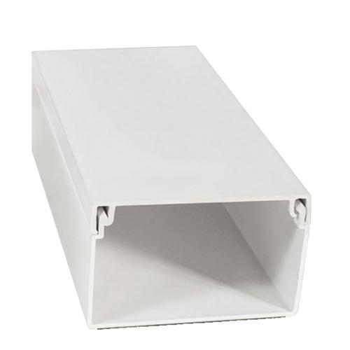 LUXUS รางวายเวย์  PVC A-50x10-2MW 2m. สีขาว