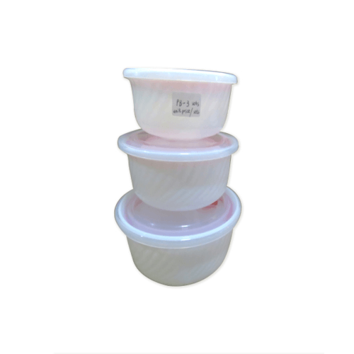 ADAMAS ชุดกล่องพลาสติตถนอมอาหาร PB-3 set สีขาว