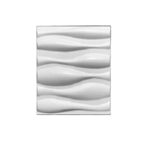 TAPIO วอลเปเปอร์ พีวีซี 3D ขนาด 50x50cm.  PQS-RZ026  สีขาว