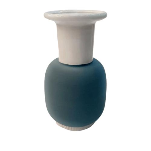 COZY แจกันตกแต่ง Size L  สีน้ำเงิน-ขาว QM021