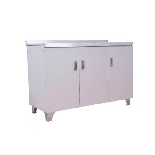 CLOSE ตู้พร้อมท๊อปสเตนเลส 120x50x80 ซม. PQS-E013 สีขาว
