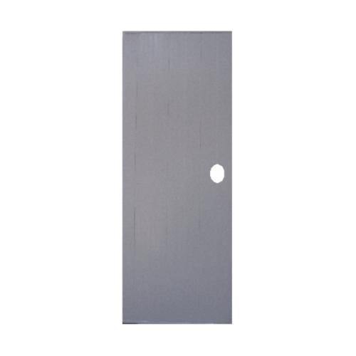 OK ประตูพีวีซี ขนาด 70x180 ซม. พร้อมวงกบ  บานทึบ P1 (เจาะ) สีเทา