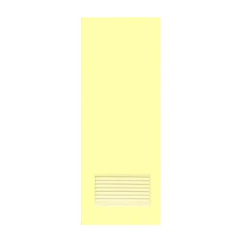 OK ประตูบานเกล็ดพีวีซี (ไม่เจาะ) 70x180 ซม. พร้อมวงกบ   P2 สีครีม