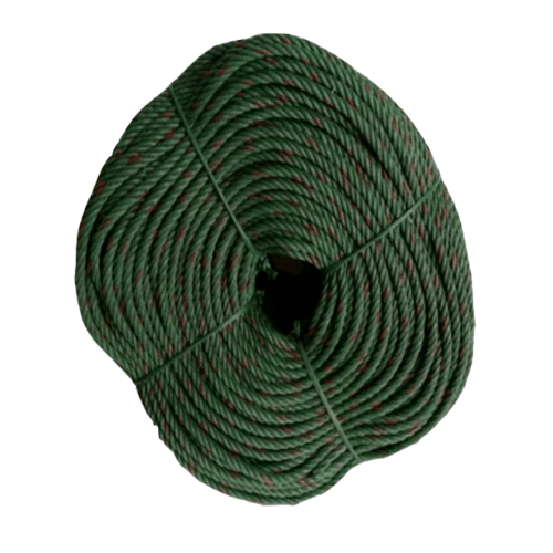 Global house เชือกไนล่อน สีเขียวขี้ม้า 5มม.  NLR-02G สีเขียว