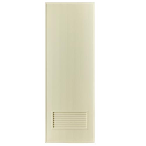 BATHIC ประตู PVC ขนาด 70x180 cm.  (ไม่เจาะ)  BS2 สีครีม