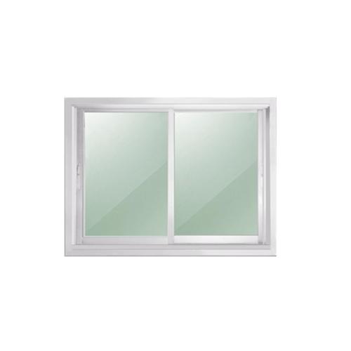 EZY WINDOW หน้าต่างอลูมิเนียมบานเลื่อน  ขนาด 60x100 ซม. สีขาว