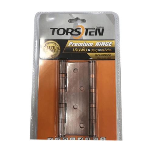 TORSTEN บานพับสเตนเลส4x3x2mm 2ชิ้น สีทองแดงโบราณ -