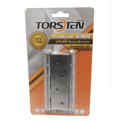 TORSTEN บานพับสเตนเลสเกรด 304 ขนาด 4x3x2mm แพ็ค 2ชิ้น HSS304-4320SL2 สีสเตนเลส